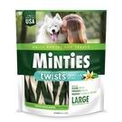 【美國原裝進口】MiNTiES猛特斯│白綠雙效低脂潔牙骨L-12oz (14入)