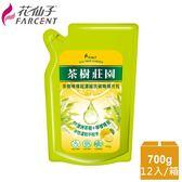 整箱購買【花仙子】茶樹莊園-茶樹檸檬超濃縮700g洗碗精補充包12入
