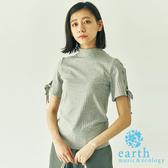❖ Hot item ❖ 繫帶手袖設計羅紋高領上衣 - earth music&ecology
