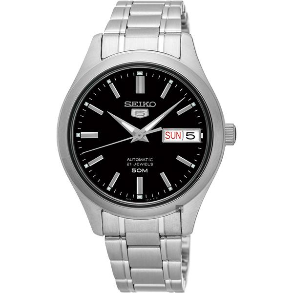 SEIKO 精工 5號盾牌日曆機械女錶(SNK883J1)-黑/34mm 7S26-04K0D