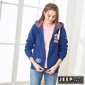 【JEEP】美式探險休閒連帽外套-男女適穿-深藍
