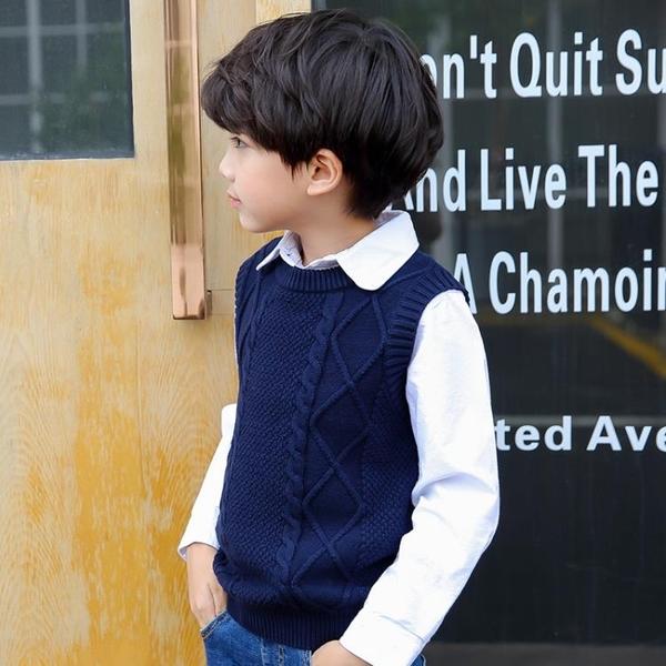 男童針織衫馬甲秋冬季新品上市新款加絨刷毛加厚純棉韓版兒童保暖背心童裝