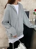 連帽衛衣 秋季灰色連帽炸街外套女春秋寬松韓版新款衛衣秋裝上衣潮ins 風尚