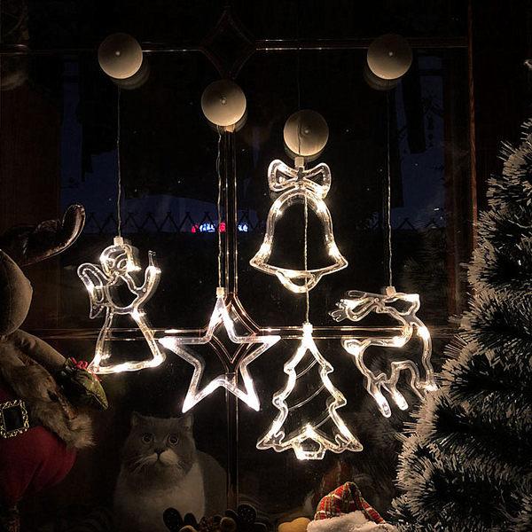 ins圣誕燈飾吸盤燈櫥窗玻璃窗圣誕節裝飾燈彩燈浪漫房間布置led燈