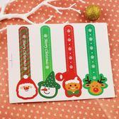【BlueCat】聖誕節公仔雪花溫度計造型長條裝飾貼紙 封口貼紙 (4枚入)