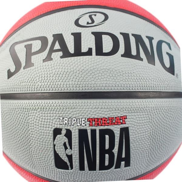 SPALDING 斯伯丁 7號 雙色籃球(紅/灰)SPA83-8267/一個入(特590) RUBBER 大NBA斯伯丁籃球-群