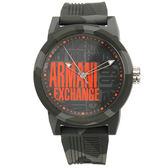 A/X Armani Exchange 時尚撞色迷彩橡膠帶男腕錶47mm(AX1441)271002