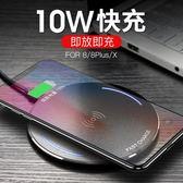 iPhonex無線充電器蘋果8plus手機快充iPhone X三星s8底座專用板8P