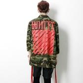 迷彩外套-韓版時尚帥氣中長版情侶款夾克外套(單件)72d11[時尚巴黎]