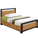 【采桔家居】摩多比 時尚3.5尺木紋單人三抽床台組合(不含床墊)
