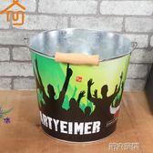 香檳桶 餐飲酒吧冰桶香檳啤酒飲料冰桶加厚創意冷藏桶手提水桶制冷保溫桶 第六空間