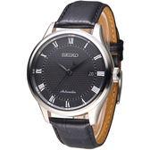 SEIKO 完美情人羅馬刻度自動機械錶-黑(SRP769K2)
