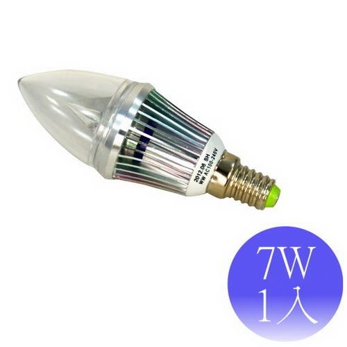 【順合】7W E14 LED全電壓 尖清燈泡-1入(白光/黃光)