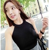 (免運)DE shop - 無袖針織短背心 - HL-900