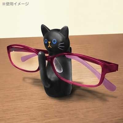 車之嚴選 cars_go 汽車用品【ME116】日本進口 黑貓物語 黑貓站立造型 直接置放式眼鏡架
