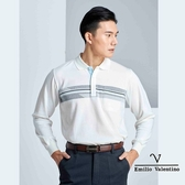 【Emilio Valentino】紳士典雅保暖休閒POLO衫 - 白