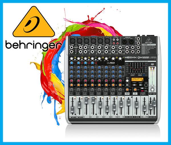 【小麥老師樂器館】Behringer 耳朵牌 Mixer QX1222USB 混音器 QX1222 USB