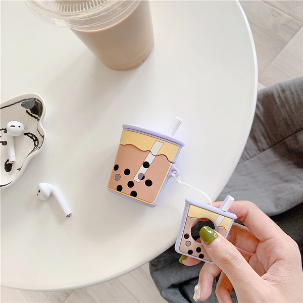 Airpods Pro 專用 1/2代 台灣發貨 [ 珍珠奶茶 ] 藍芽耳機保護套 蘋果無線耳機保護