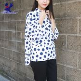 American Bluedeer-點點口袋襯衫(魅力價) 春夏新款