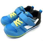 《7+1童鞋》日本月星 MOONSTAR 魔鬼氈  透氣  機能  運動鞋  C460  藍色