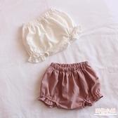 拼接花邊短褲寶寶嬰幼兒女童外穿夏季小童面包褲6-12個月1-2歲 店慶降價