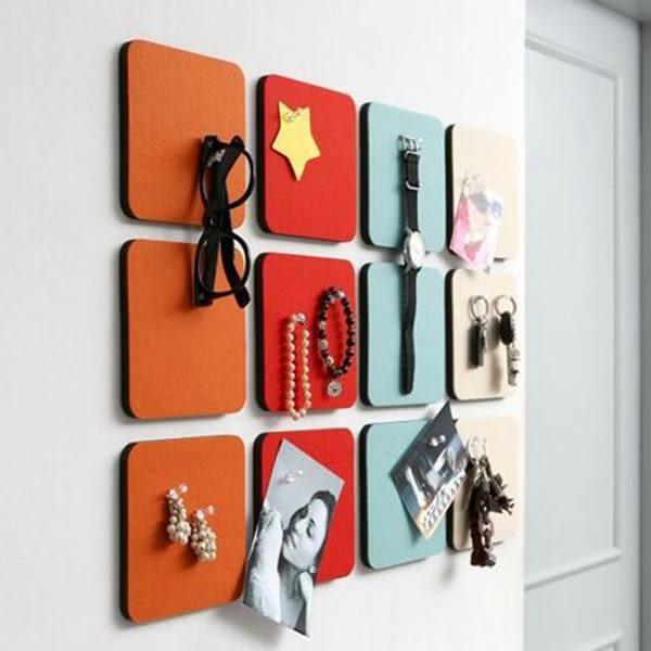 【BlueCat】韓國時尚正方形圓形六角形毛氈裝飾牆貼 留言板