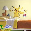 [美國直購] 神奇寶貝 精靈寶可夢周邊 RoomMates RMK2536GM Pokemon Pikachu Peel and Stick Wall Decals