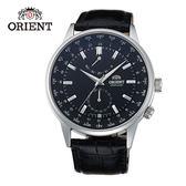 ORIENT 東方錶 WORLD TIME系列 世界時間機械錶 皮帶款 SFA06002B 黑色 - 43.5mm
