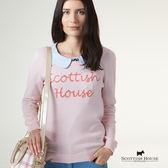 Scottish House 胸前草寫LOGO設計針織上衣 X1424