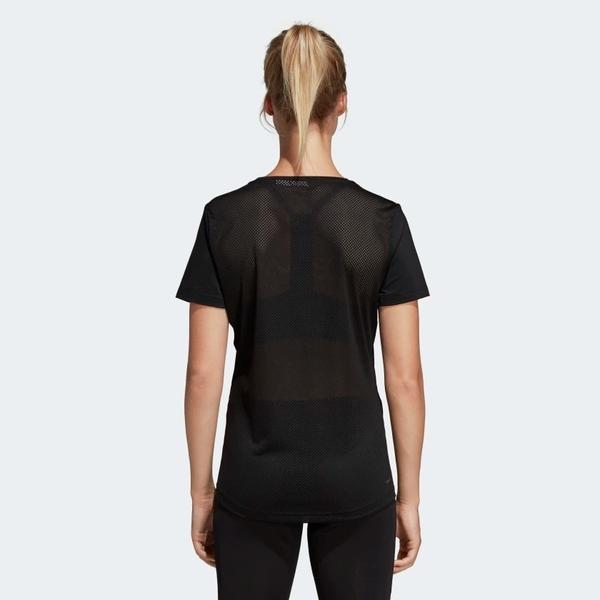 ADIDAS DESIGN 2 MOVE LOGO 女裝 短袖 休閒 慢跑 排汗 透氣 黑【運動世界】DS8724