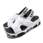 Skechers 涼拖鞋 Daddy-O-Dibs 白 黑 女鞋 涼鞋 厚底 增高 鬆緊帶 【ACS】 163051WBK