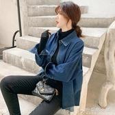 牛仔襯衫女裝春秋新款設計感小眾薄外套百搭寬鬆顯瘦襯衣小衫 安妮塔小鋪