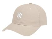 ISNEAKERS MLB 洋基 棒球帽 老帽 奶茶色 可調式 男女 32CP77931-50B