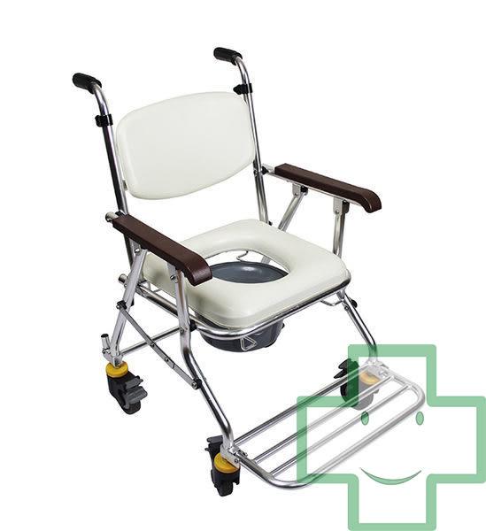✿✿✿【福健佳健康生活館】均佳 鋁合金輪可收洗澡便器椅 JCS-208