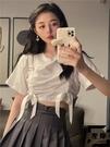 短款上衣女設計感小眾夏季蝴蝶結短袖T恤潮【左岸男裝】