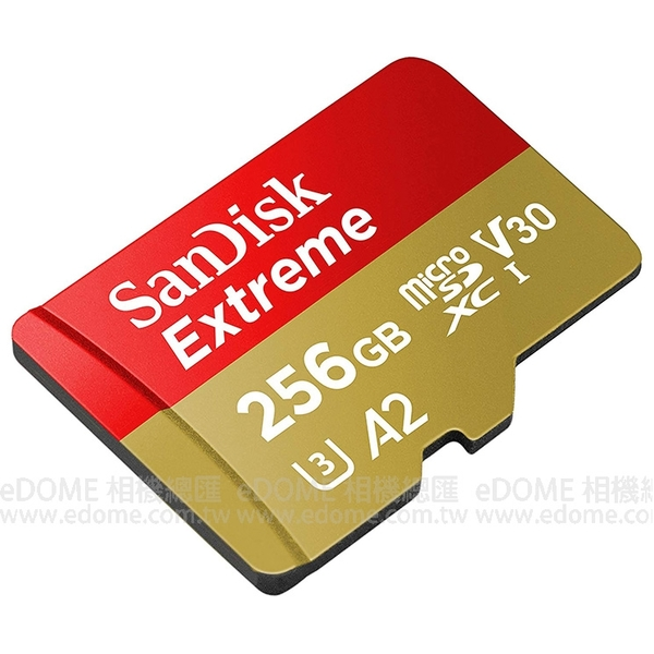 SanDisk Extreme micro SD SDXC 256GB 160MB/S V30 A2 附轉卡 (免運 公司貨終身保固) 256G SDSQXA1-256G