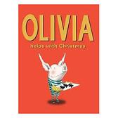 【麥克書店】OLIVIA HELPS WITH CHRISTMAS /英文繪本《聖誕節》