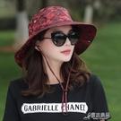 登山帽 夏季帽子女迷彩太陽帽女士戶外騎車釣魚登山運動遮陽防曬漁夫盆帽 16原本良品