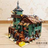 漁夫小屋模型建筑街景拼裝兼容樂高積木益智拼插玩具【時尚大衣櫥】
