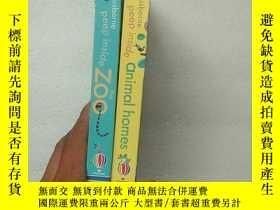 二手書博民逛書店The罕見Zoo、Peep Inside Animal Homes Board book(2本合售)【內頁幹凈】