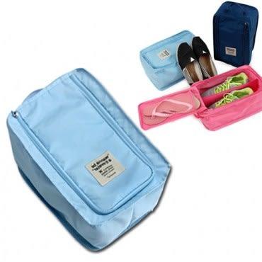 wanna be a traveler 便攜式旅行鞋袋 水藍