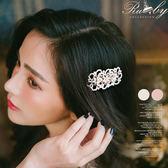 髮飾 串珠花朵珍珠髮夾-Ruby s露比午茶