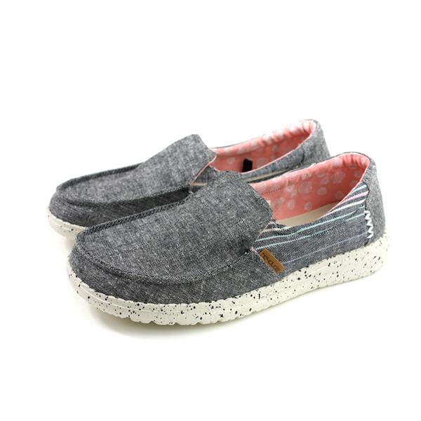 Hey Dude 休閒鞋 帆船鞋 帆布 女鞋 灰色 HD2002-809 no012