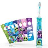 【PHILIPS 飛利浦】HX6322 兒童音波震動電動牙刷 ( 附原廠刷頭兩個 )