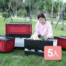 特惠-《真心良品x樹德》栗林掀蓋摺疊物流箱5入組