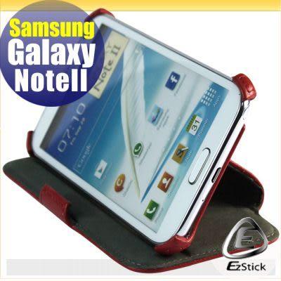 【EZstick】SAMSUNG Galaxy NOTE 2 NOTE II N7100 N7102 專用皮套(紅色頂級款式)(加碼送專用機身貼)