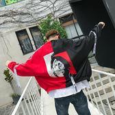 飛行夾克 新款男士夾克寬鬆撞色小丑韓版棒球服男裝外套潮流衣服 米蘭街頭