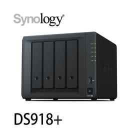 Synology 群暉 DiskStation DS918+/Plus 網路儲存伺服器 NAS(不含HDD/SSD)