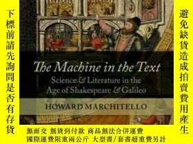 二手書博民逛書店The罕見Machine In The Text: Scienc