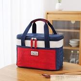 上班族帶飯的飯盒袋子便當袋手提包保溫袋大號大容量鋁箔隔熱加厚  夏季新品
